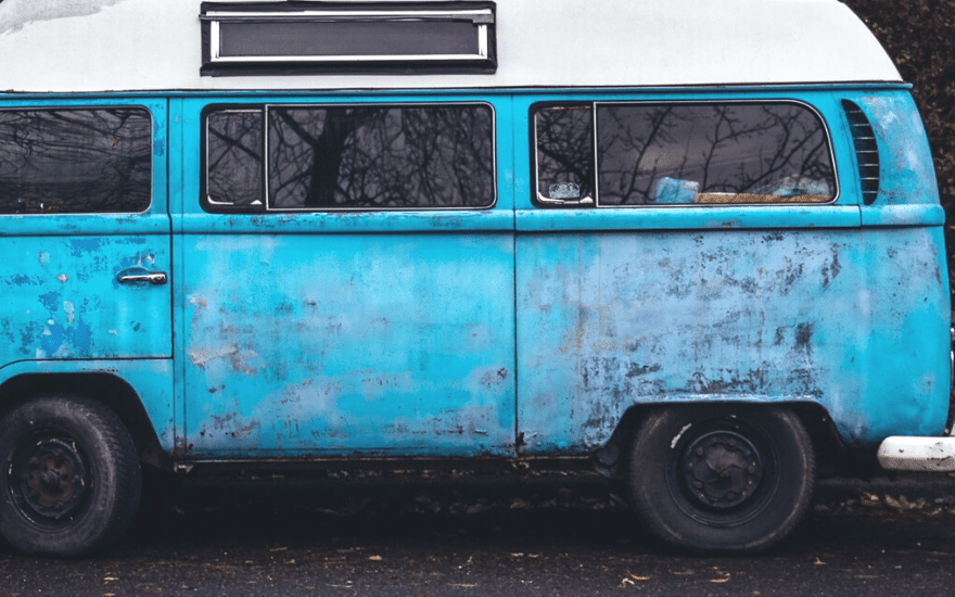 Oberflächenrost Auto
